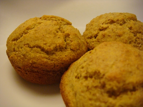 Whole Wheat Cornmeal Muffins